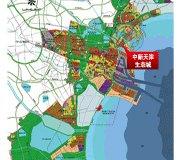 中新天津生态城规划图 高清图片